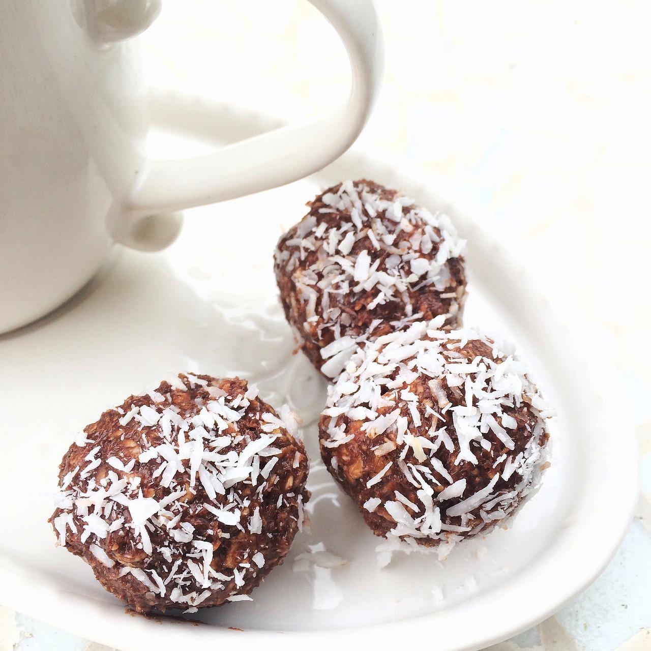čokoládové kuličky, zdravé cukroví, kuličky