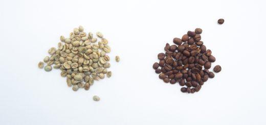 Zelená káva vs. pražená káva kávové boby
